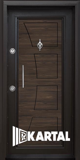 Блиндирана врата с вертикална дръжка модел Т-369