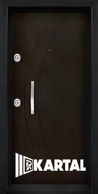 Входна врата модел Т-909 с вертикална дръжка